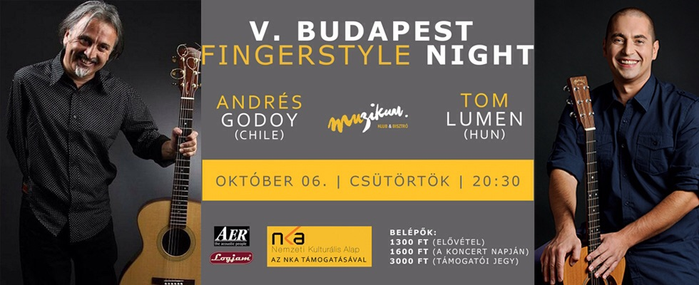 V. Budapest Fingerstyle Night w. Andres Godoy & Tom Lumen